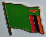 Zambia Country Flag Enamel Pin Badge